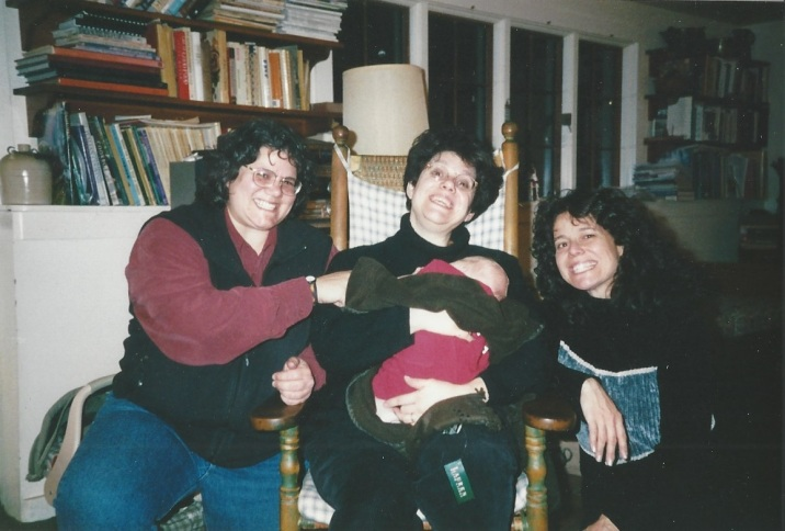 The 3 sisters with baby Harris