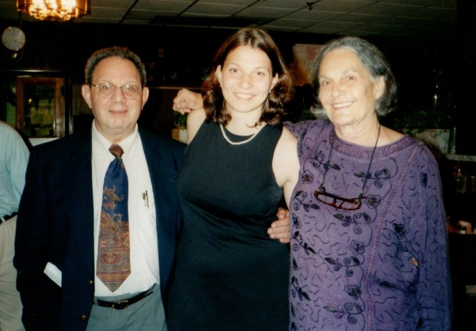 Jo with her Noni and Bapa, 1998