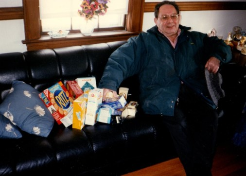 """Len was asked to pick up """"some"""" crackers"""
