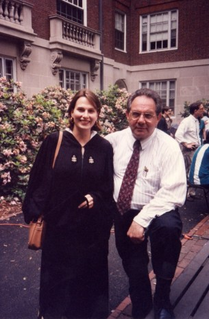 Yo and Bapa, Harvard graduation, 1995