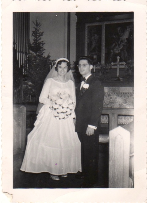 Connie and Len's wedding, 12/27/52