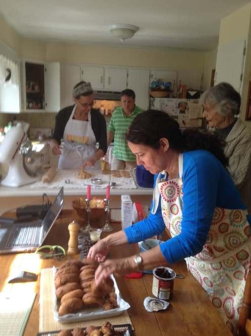 Making Mimi's donuts