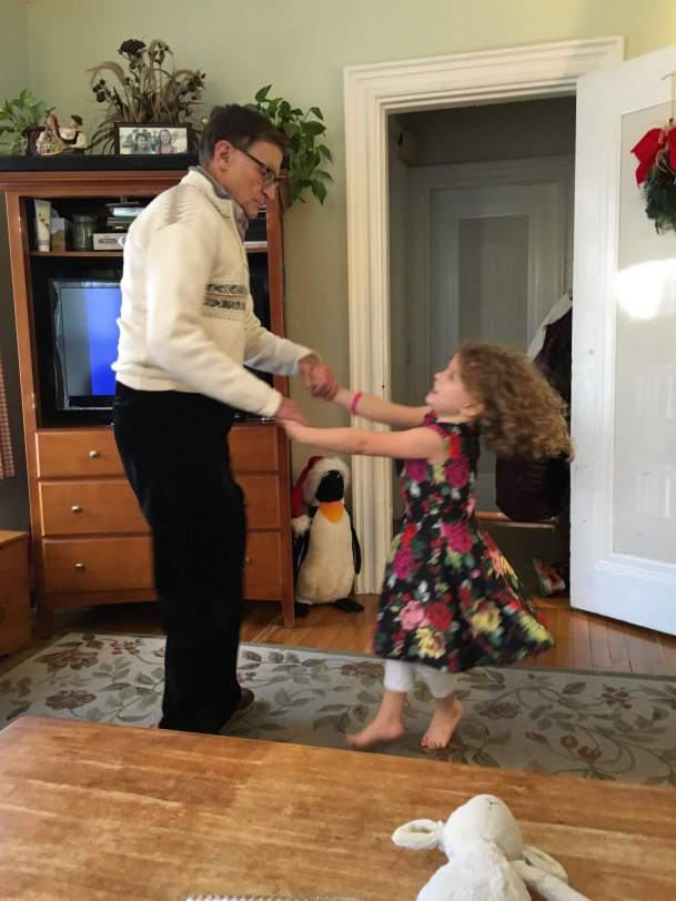 Grampy Jeff dancing with Anna