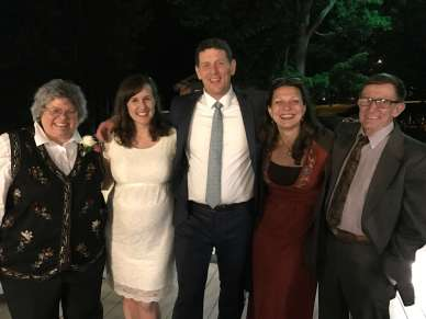 Farina contingent at the Hampton wedding