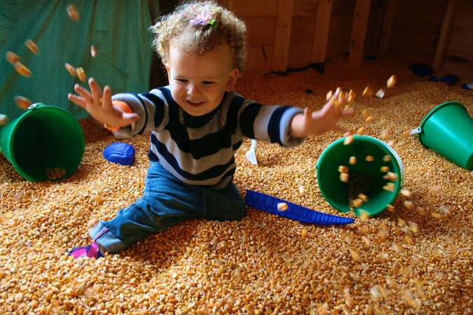 Anna at the corn maze