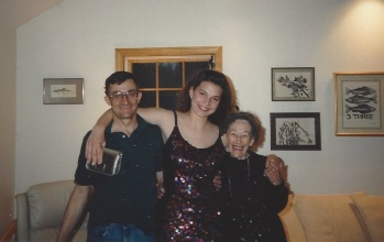 Jo with the Butlers on prom night