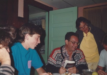 Len and Con vacationing in York Beach, 1988