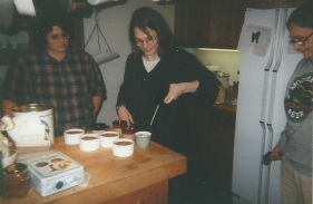 Making creme brulee in Harrisville