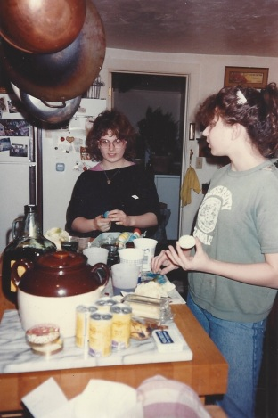 Yo and Jo cooking in Harrisville, circa 1987