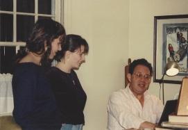 Yo and Jo, singing with Bapa