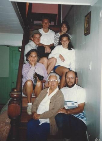 York Beach vacation, 1989