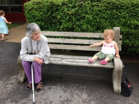 Connie and great-granddaughter Anna