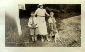 Aunt Josephine, Len, Richard and Dog