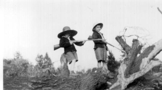 Len and Richard with Guns