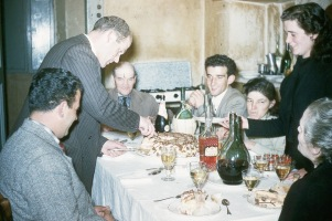 Farina family Meal Old Country 1955