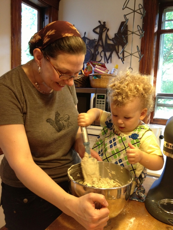 Making cookies with Auntie Jo