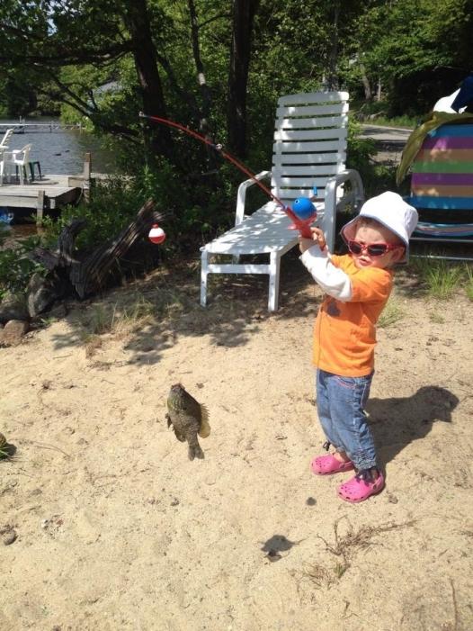 Anna's gone fishing