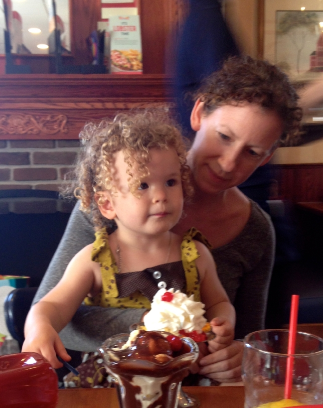 Birthday at Friendly's with Auntie Kim