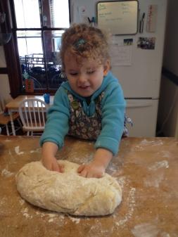 Kneading the dough