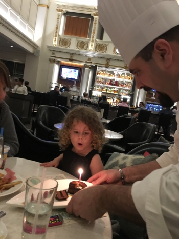 Birthday surprise from the chef