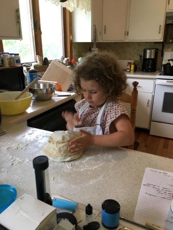 Anna baking in Swanzey