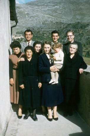 Richard and Family Italy 1955
